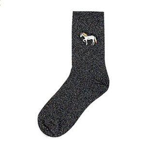 Topshop Glitter Unicorn Ankle Socks